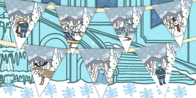 The Snow Queen Bunting - bunting, snow queen, display, queen