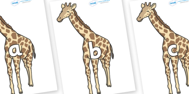 Phase 2 Phonemes on Giraffe - Phonemes, phoneme, Phase 2, Phase two, Foundation, Literacy, Letters and Sounds, DfES, display