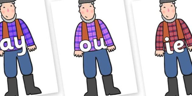 Phase 5 Phonemes on Farmer to Support Teaching on What the Ladybird Heard - Phonemes, phoneme, Phase 5, Phase five, Foundation, Literacy, Letters and Sounds, DfES, display