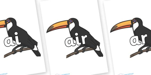 Phase 3 Phonemes on Toucan - Phonemes, phoneme, Phase 3, Phase three, Foundation, Literacy, Letters and Sounds, DfES, display