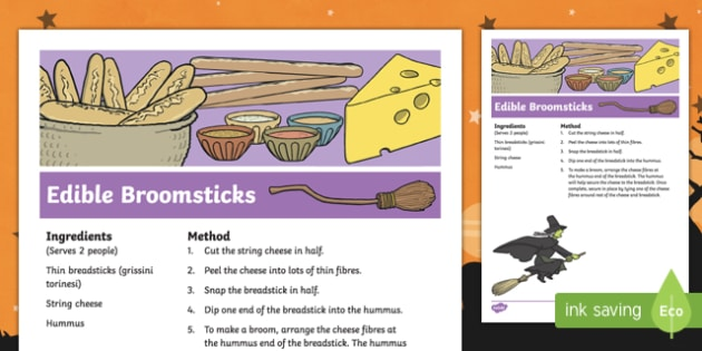 Edible Broomstick Recipe