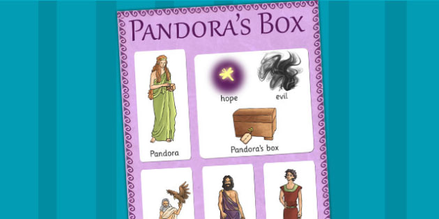 Pandoras Box Ancient Greek Myth Vocabulary Mat - greek mythology