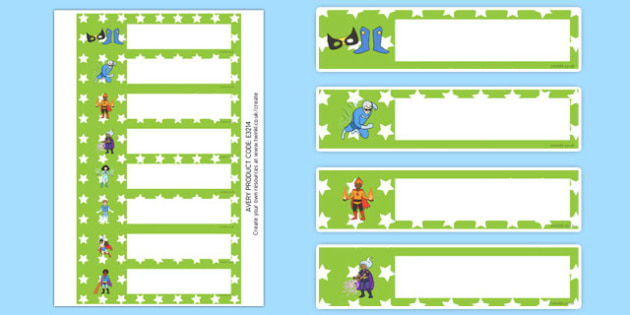 Star Superhero Themed Resource Labels - Label template, Resource Label, Name Labels, Editable Labels, Drawer Labels, KS1 Labels, Foundation Labels, Foundation Stage Labels, Teaching Labels, Resource Labels, Tray Labels, Printable labels , editablelab