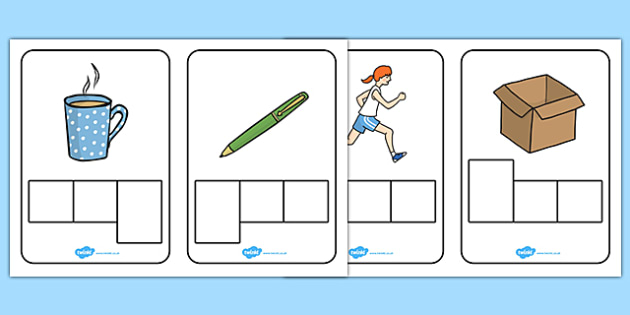 CVC Words Phoneme Graphic Organizers - CVC, CVC word, three phoneme words, phoneme frame, phoneme, phonemes, Segmenting, DfES Letters and Sounds, Letters and sounds