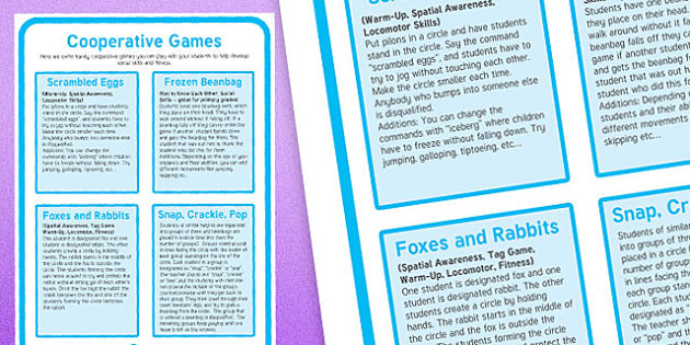 Cooperative Games A4 Display Poster - canada, cooperative, games, activity, display poster, display, poster, supply