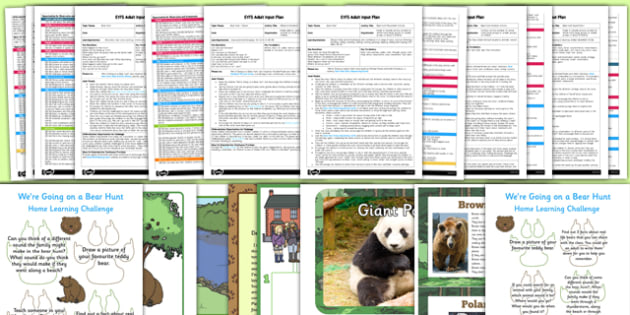EYFS Adult Input Planning and Resource Pack to Support Teaching on Bear Hunt - We're Going on a Bear Hunt, EYFS, early years planning, adult led