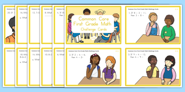 Common Core First Grade Math OA 3 Task Cards Challenge Cards