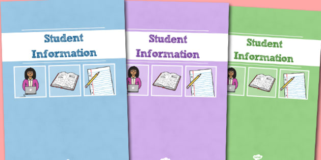 A4 Student Information Divider Covers-student information, divider covers, divider, covers, themed divider covers, class information
