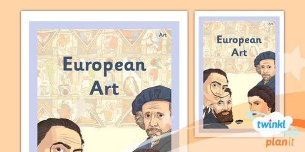 PlanIt - Art LKS2 - European Art Unit Book Cover - planit, book cover, art and design, art, lks2, european art