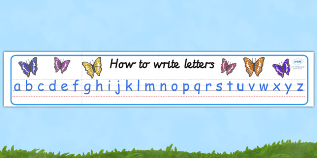 Butterfly Themed Alphabet Display Banner (Comic Sans) - display, banner, display banner, butterfly themed banner, alphabet banner, comic sans alphabet, comic sans alphabet banner, poster, sign, classroom display, themed banner