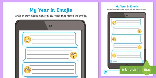 My Year in Emojis Activity Sheet-Australia
