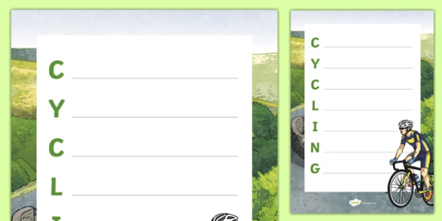 Cycling Acrostic Poem
