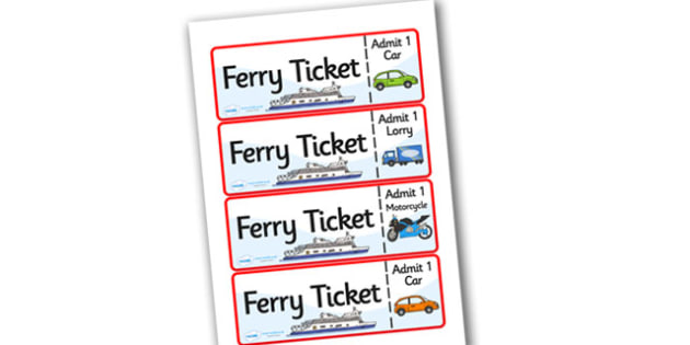 Ferry Port Role Play Tickets - ferry port, role play, tickets, ferry port tickets, role play tickets, tickets for ferry port, ferry tickets, tickets for ferry