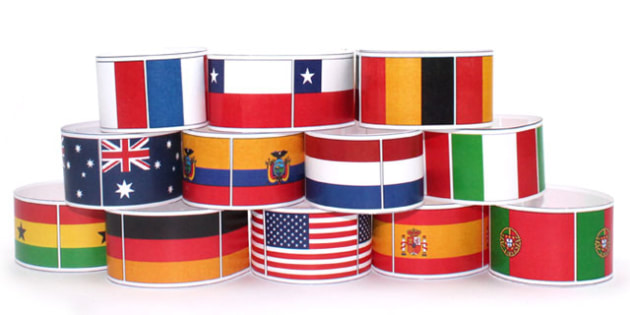 World Cup Country Flags Wristbands - football, sports, props, pe