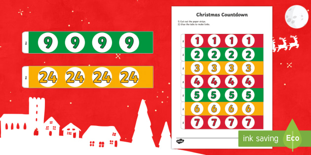 Paper Chain Christmas Countdown Activity - paper chain, countdown, christmas, activity