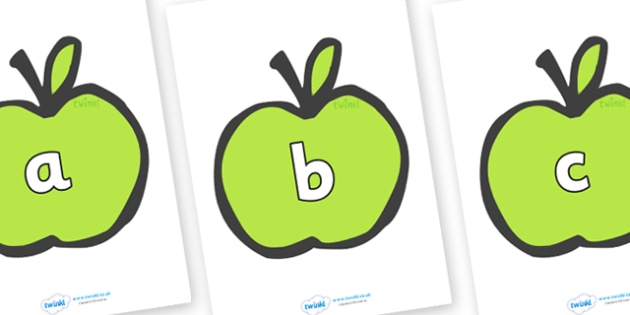 Phase 2 Phonemes on Apples - Phonemes, phoneme, Phase 2, Phase two, Foundation, Literacy, Letters and Sounds, DfES, display