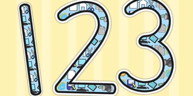 ICT Computing Display Numbers - number, displays, computers