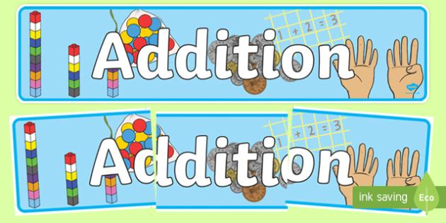 Addition Display Banner