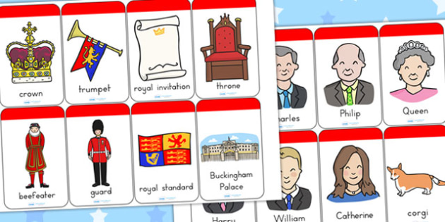 Royal Family Flashcards - royality, queen elizabeth, visual aids