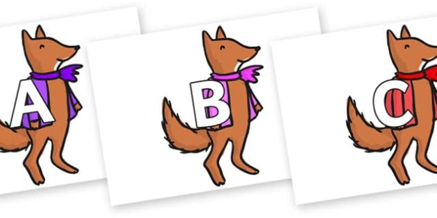 A-Z Alphabet on Small Fox 4 to Support Teaching on Fantastic Mr Fox - A-Z, A4, display, Alphabet frieze, Display letters, Letter posters, A-Z letters, Alphabet flashcards