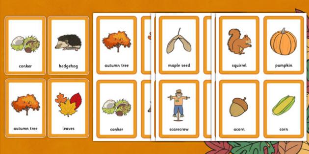 Autumn Pairs Matching Game - autumn pairs, matching, game, match, matching game, autumn, pairs