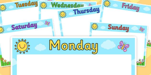 A3 KS1 Visual Timetable Posters - a3, ks1, visual, timetable