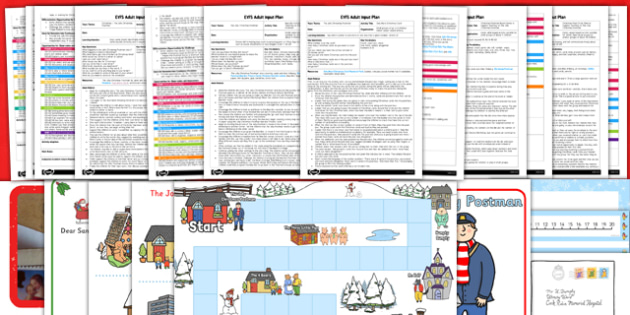 EYFS Adult Input Planning and Resource Pack to Support Teaching on The Jolly Christmas Postman - EYFS, early years planning, Christmas