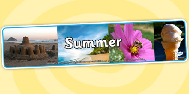 Four Seasons Photo Display Banners Summer -  four seasons, summer, display banner, summer display banner, summer banner, photo display banner