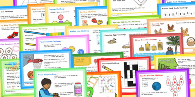 A4 KS1 Mixed Maths Challenge Posters - poste, displays, display