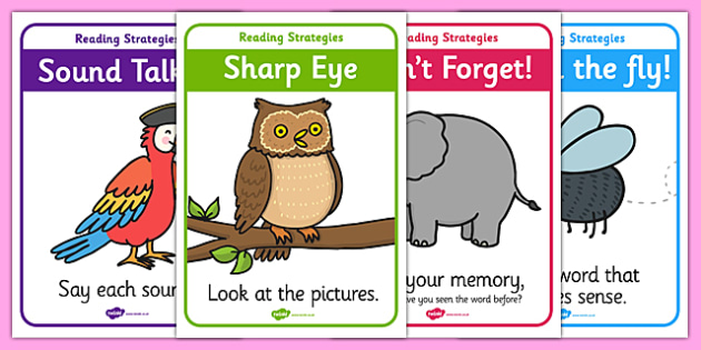 Guided Reading Strategy Display Posters - guided reading, reading