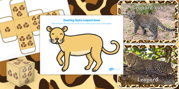 Leopard Spots Counting Game - leopard, spots, counting, game