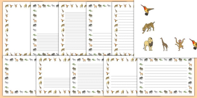 Crocodile Themed Page Borders Pack - The Selfish Crocodile, writing, literacy, display, english, ks1, ks2, animals, zoo, jungle, reptile
