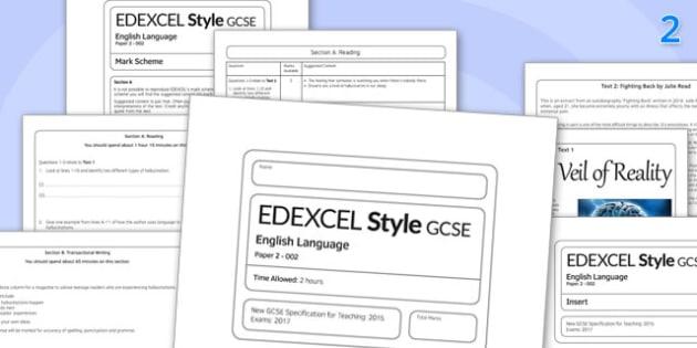 GCSE English Language Exam Paper 2 EDEXCEL - gcse, exam, english, language