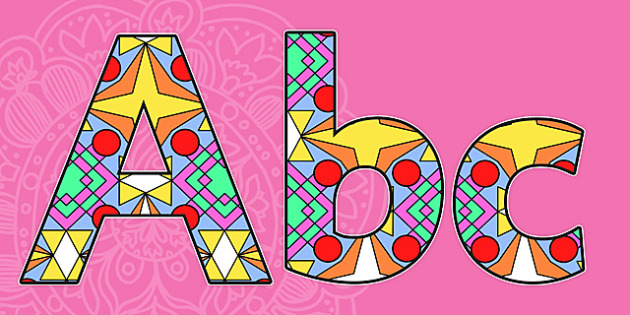 Diwali Rangoli Pattern Display Lettering - Diwali Rangoli Pattern Display Lettering, Diwali, religion, hindu, hanoman, A-Z, A4, display, Alphabet frieze, Display letters, Letter posters, A-Z letters, Alphabet flashcards, rangoli, sita, ravana, pooja
