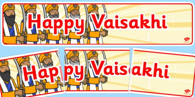 Happy Vaisakhi Display Banner - happy, vaisakhi, display, banner
