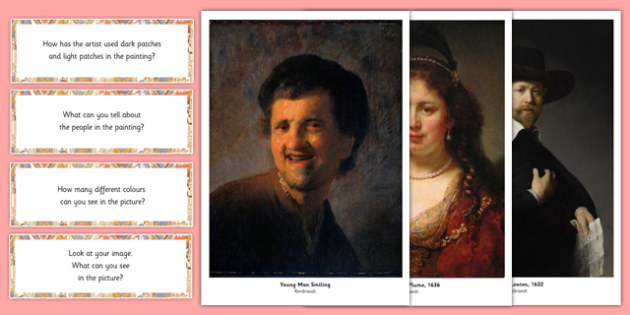 Rembrandt Photopack and Prompt Questions - rembrandt, photo, pack, prompt, questions
