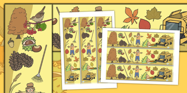 Harvest Display Borders - Display border, classroom border, border, Harvest, Autumn, seasons,  A4, display, harvest,  harvest festival, fruit, apple, pear, orange, wheat, bread, grain, leaves, conker