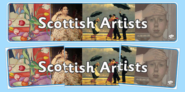 Scottish Artists Display Banner - cfe, scottish, artists, display banner, display, banner, scotland