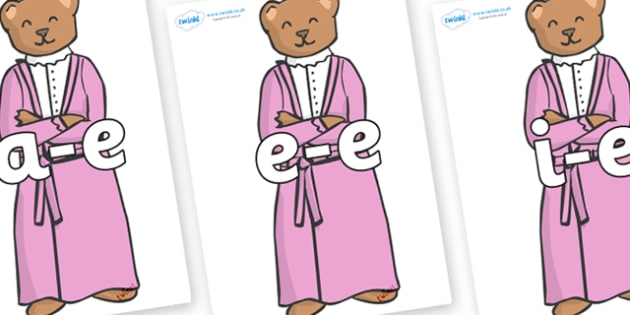 Modifying E Letters on Mummy Bear - Modifying E, letters, modify, Phase 5, Phase five, alternative spellings for phonemes, DfES letters and Sounds