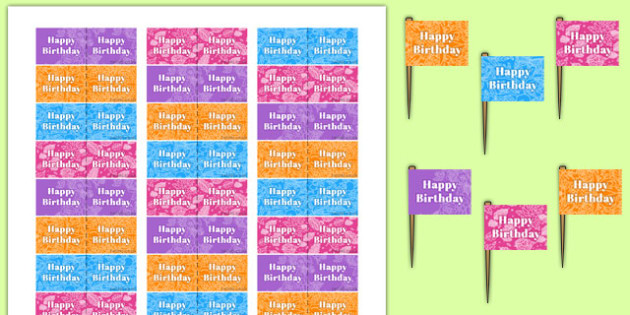 70th Birthday Party Toothpick Flags - 70th birthday party, 70th birthday, birthday party, toothpick flags