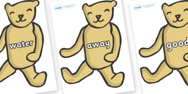 Next 200 Common Words on Old Teddy Bears - Next 200 Common Words on  - DfES Letters and Sounds, Letters and Sounds, Letters and sounds words, Common words, 200 common words