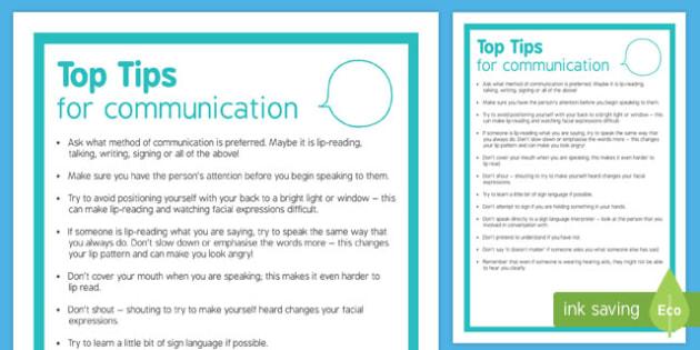 Deaf Awareness Communication Tips-Scottish
