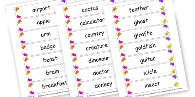 Common Nouns Cards - KS2 Nouns, Words and Vocabulary, Literacy, KS2 English
