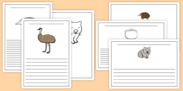 The Stew Writing Frames - australia, wombat stew, marcia k vaughan, story book, writing frames