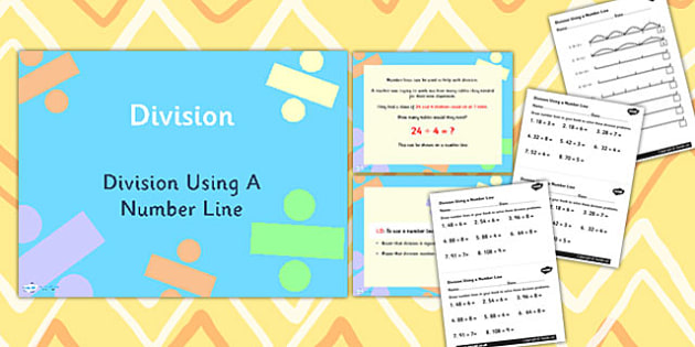 Year 3 Division - Using a Number Line Differentiated Lesson Teaching Pack