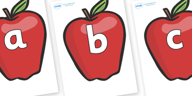 Phoneme Set on Red Apples - Phoneme set, phonemes, phoneme, Letters and Sounds, DfES, display, Phase 1, Phase 2, Phase 3, Phase 5, Foundation, Literacy
