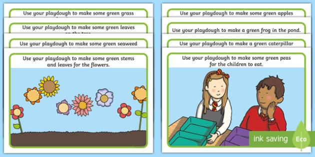 Green Themed Playdough Mat