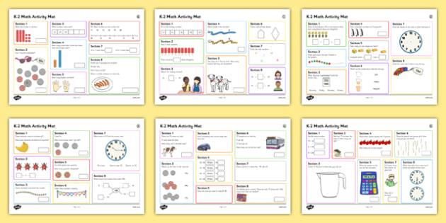 K-2 Math Activity Mats - usa, america, year 1, y1, maths, numeracy, maths activities, activities, problem solving