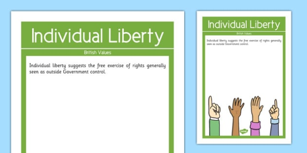 Individual Liberty British Values Display Poster - british values, display poster, display, poster, individual liberty