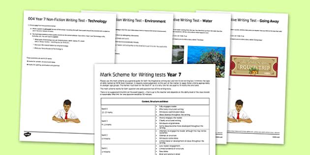 Year 7 GCSE Style Writing Tests - year 7, gcse, style, writing, tests